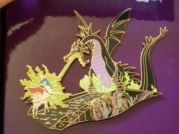 Prince Phillip with Maleficent Rare Disney Pins