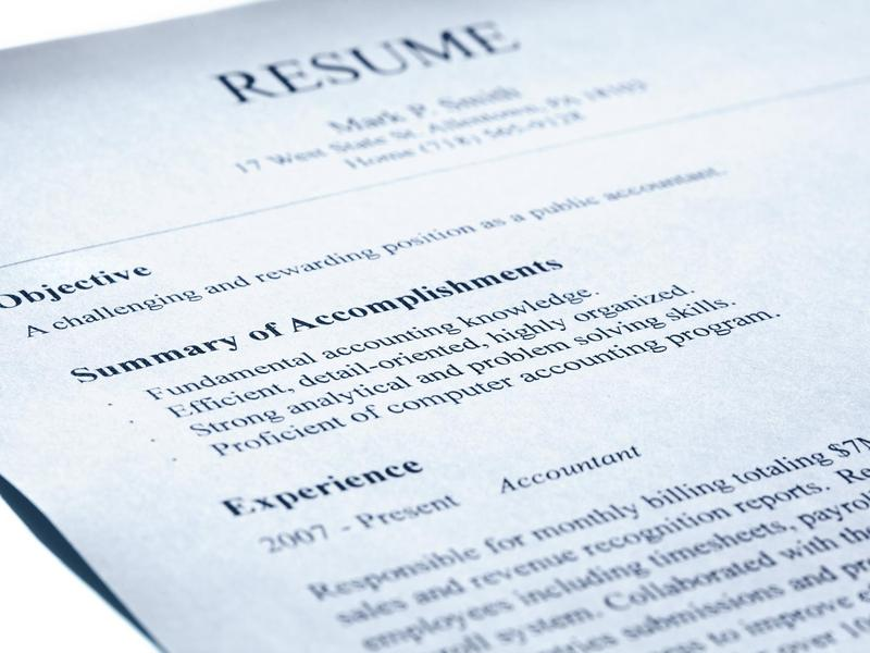 Have your resume ready