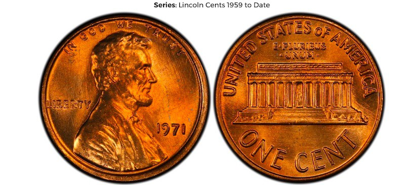 1971 Lincoln Memorial Cent (Doubled Die Obverse)