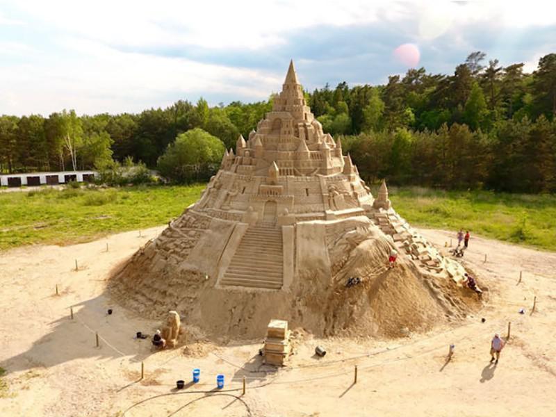 The World's Tallest Sandcastle