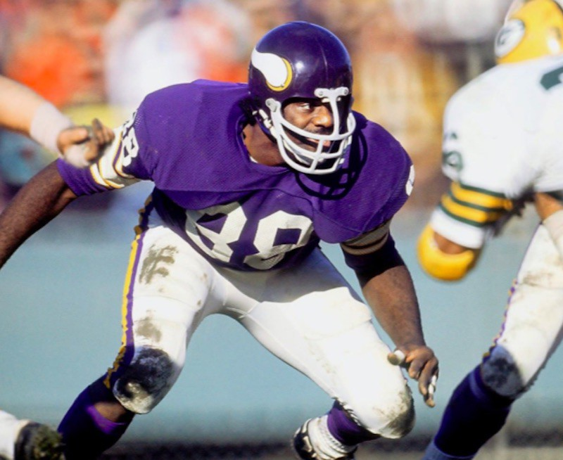 Alan Page in prepared stance