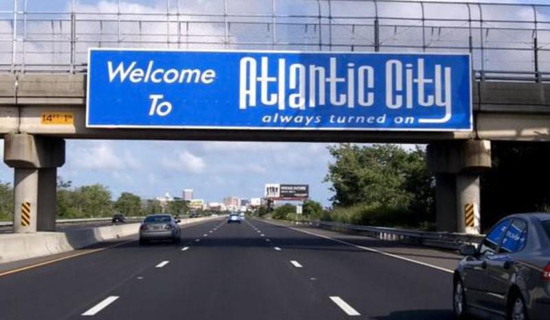 Atlantic City highway sign
