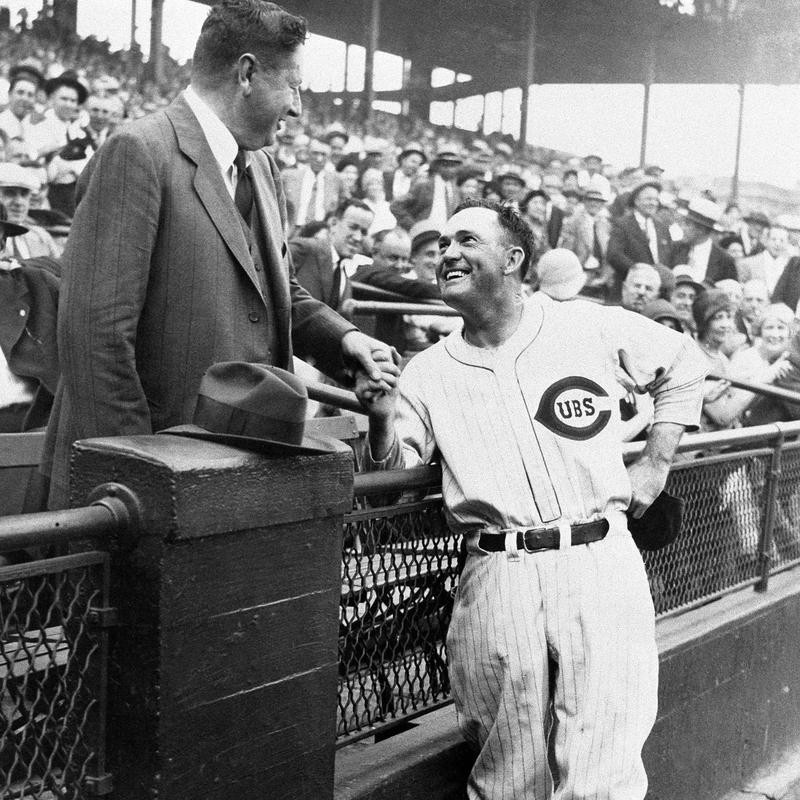 Rogers Hornsby interacting