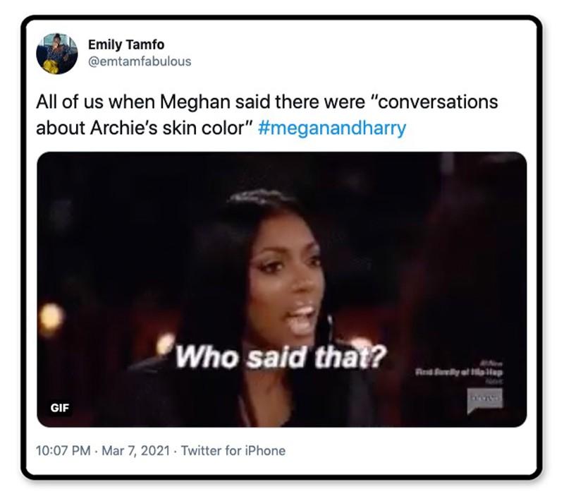 Conversations about Archie's skin color