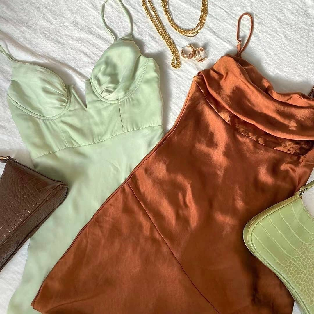 Rust-colored summer clothes