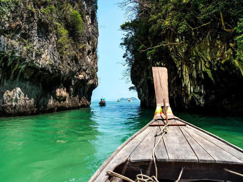 Longtail boat in Krabi, Thailand