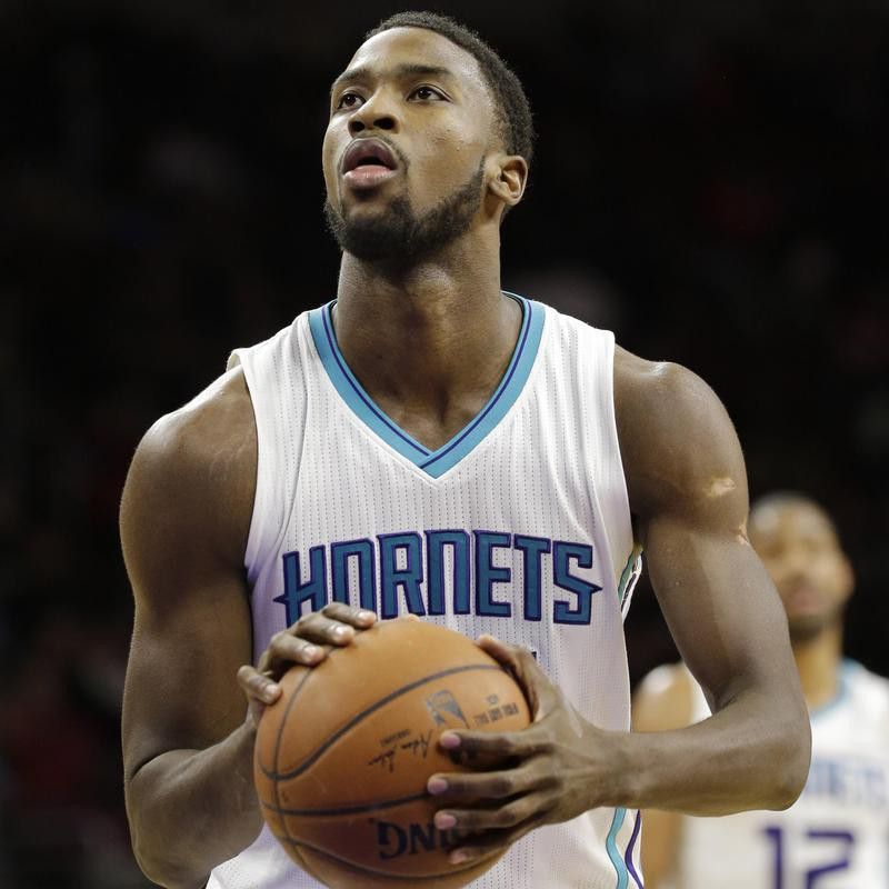 Michael Kidd-Gilchrist shoots a free throw
