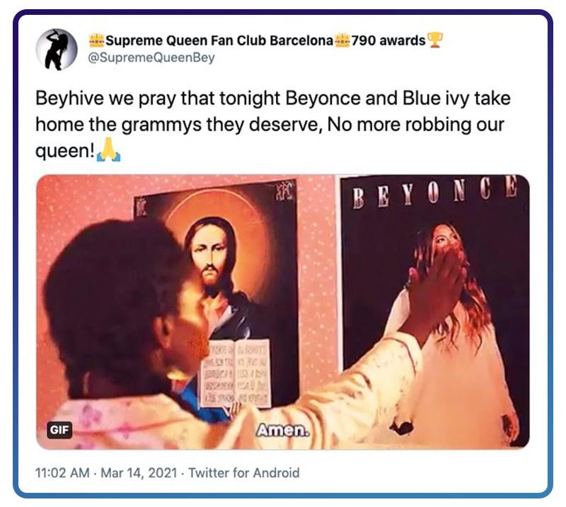 Beyoncé prayer