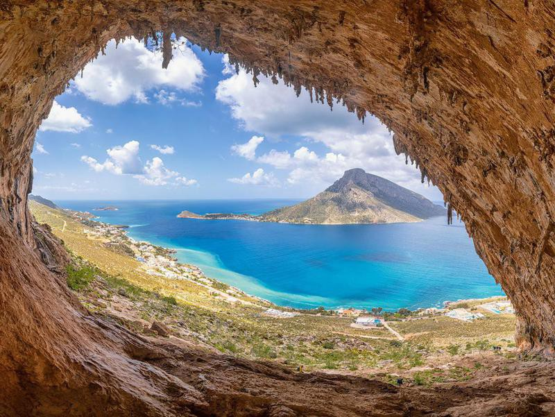 Grande Grotta in Kalymnos, Greece
