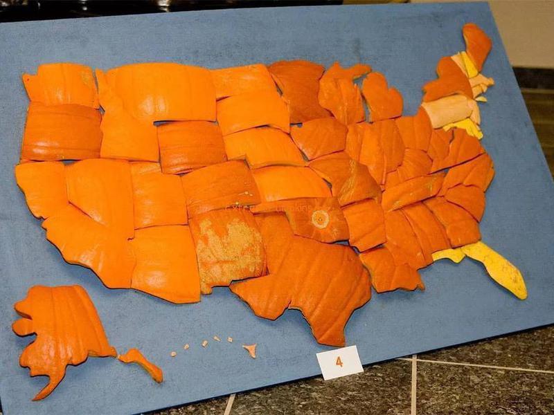 Pumpkin map of the U.S.