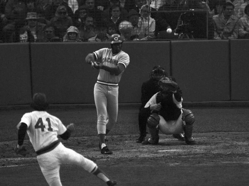 Ken Griffey hits an RBI double in World Series at Fenway Park