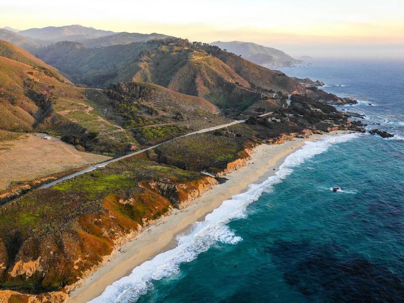 Pacific Ocean at Big Sur, California