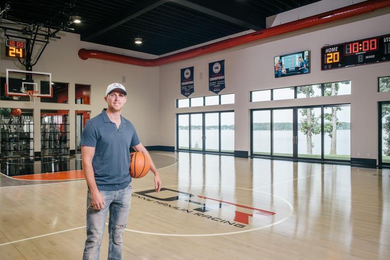 Denny Hamlin's indoor basketball court