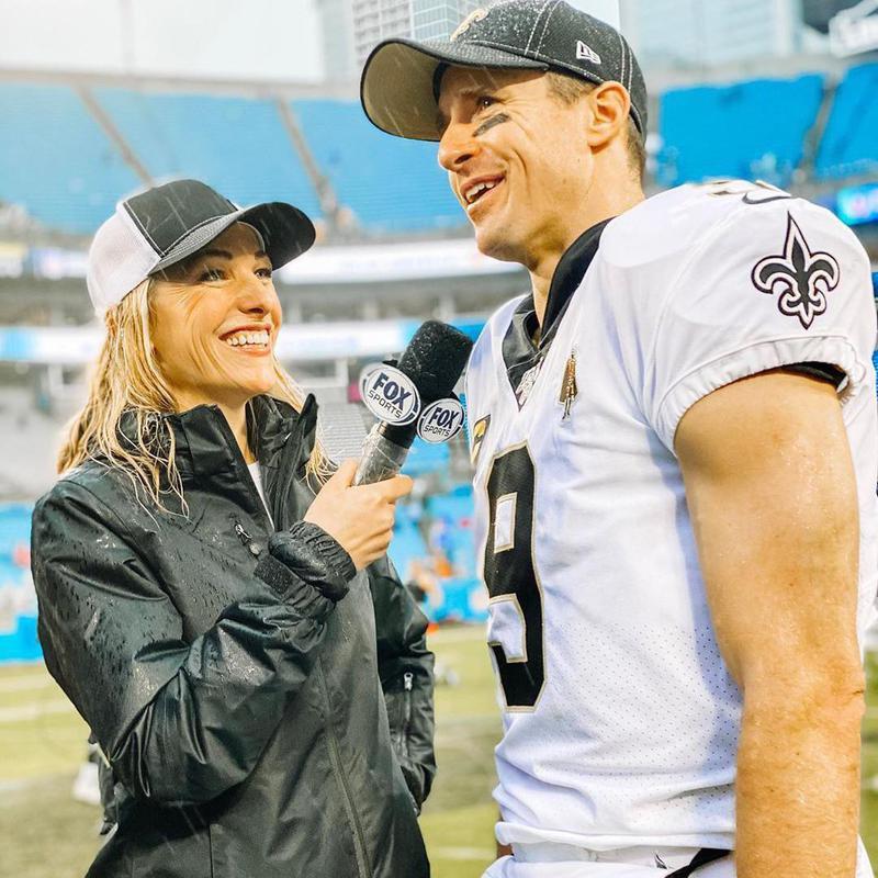 Lindsay Czarniak and Drew Brees