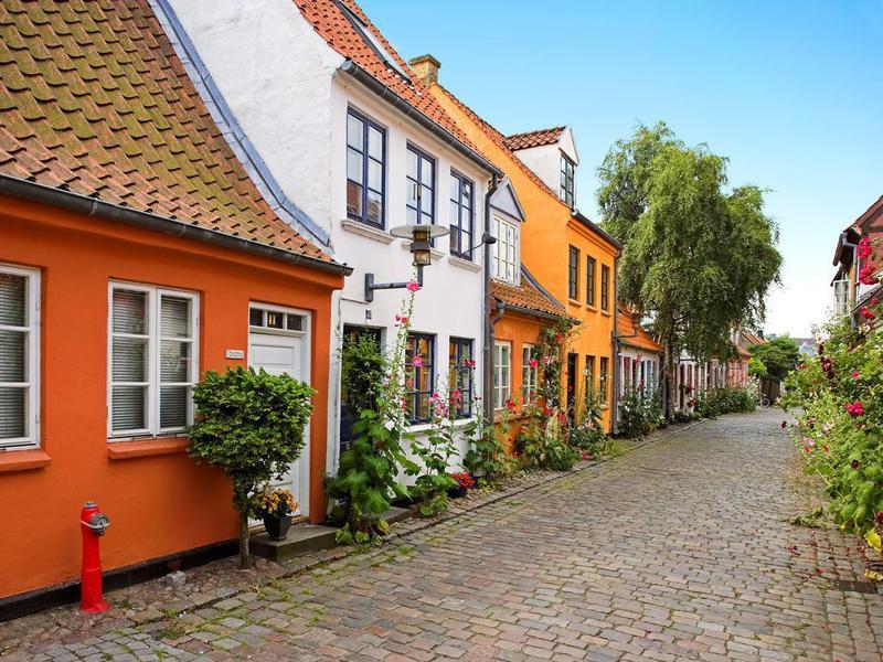 Old Danish houses in Denmark