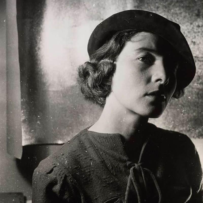 Portrait of Woman Wearing Beret