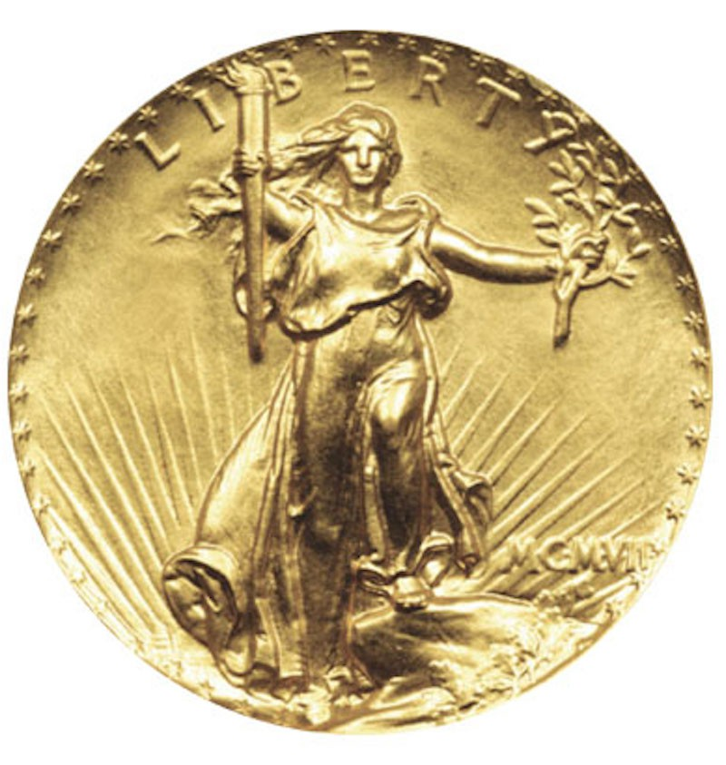 1907 Saint-Gaudens Ultra High Relief Double Eagle Lettered Edge