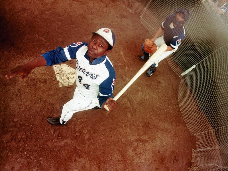 Hank Aaron with 1974 Atlanta Braves
