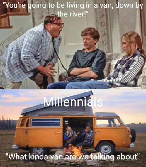 Millenial vanlife meme