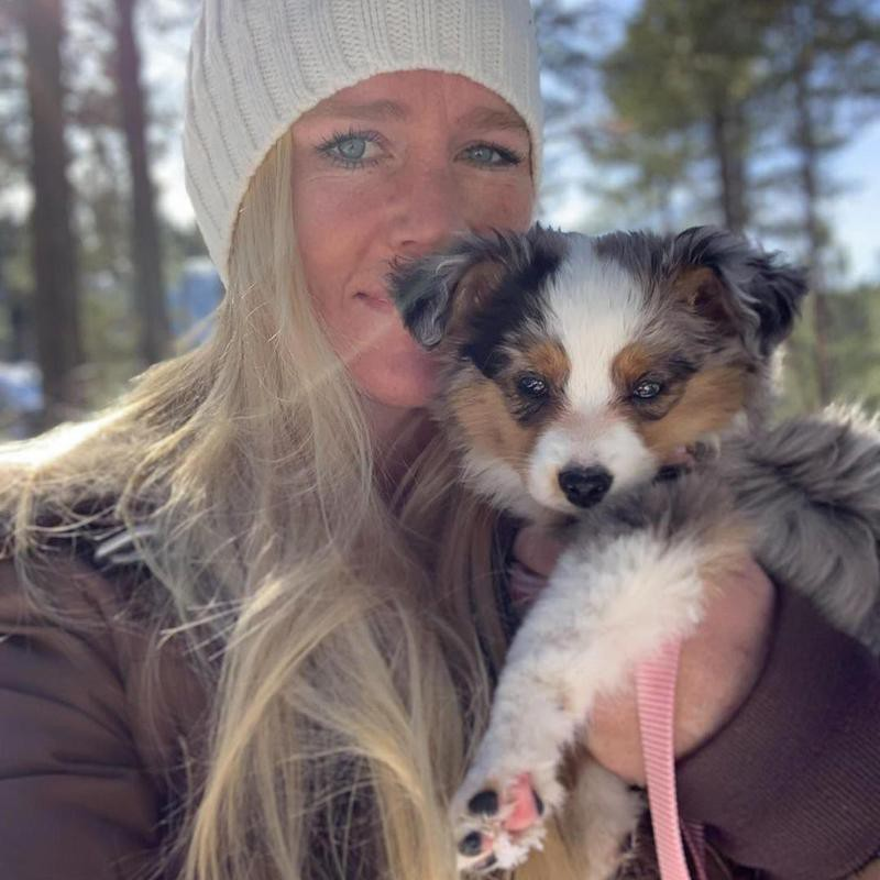 Holly Holm with her puppy