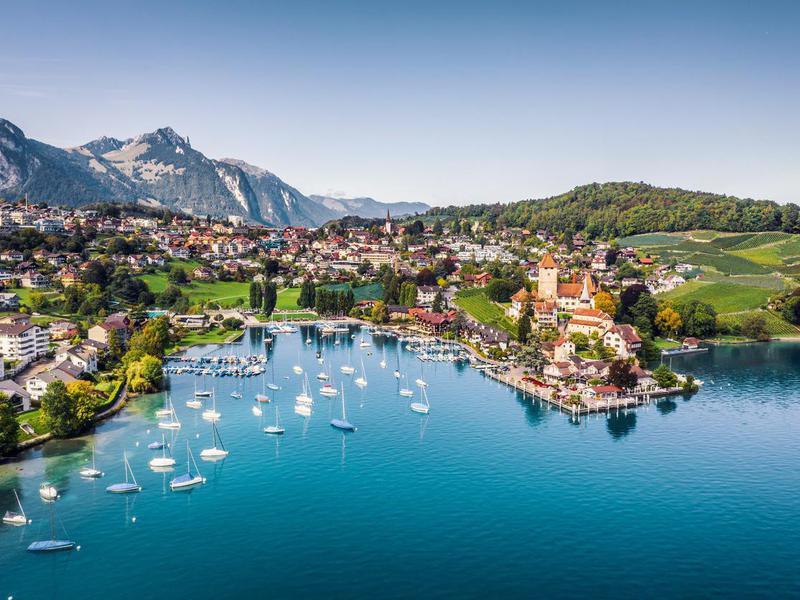 Spiez town, Switzerland