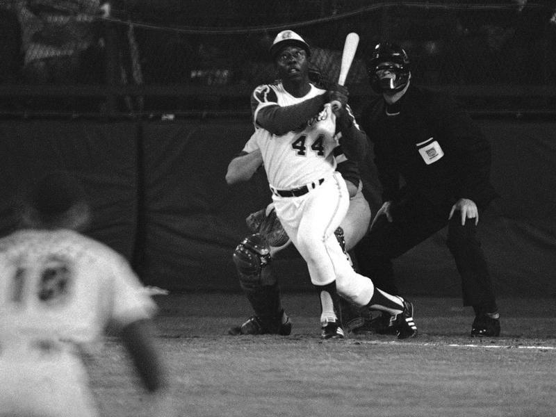 Hank Aaron against the Dodgers