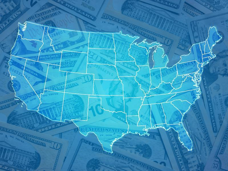 Professional Sports Teams By State Map.The Richest Person In Every State Work Money