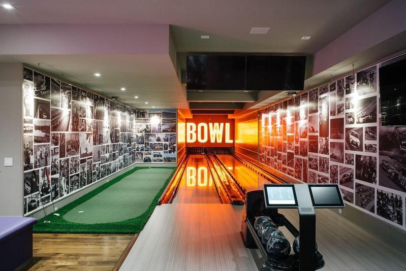 Denny Hamlin's bowling alley