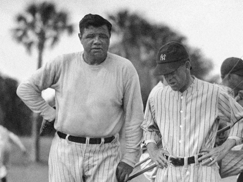 Babe Ruth and Miller Huggins