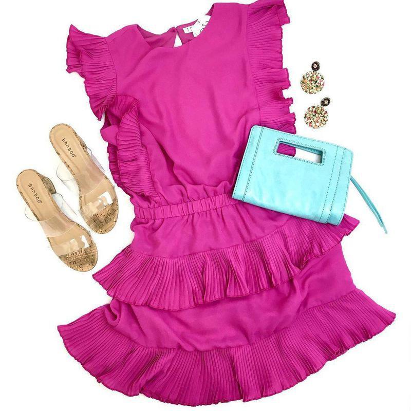 Magenta summer dress