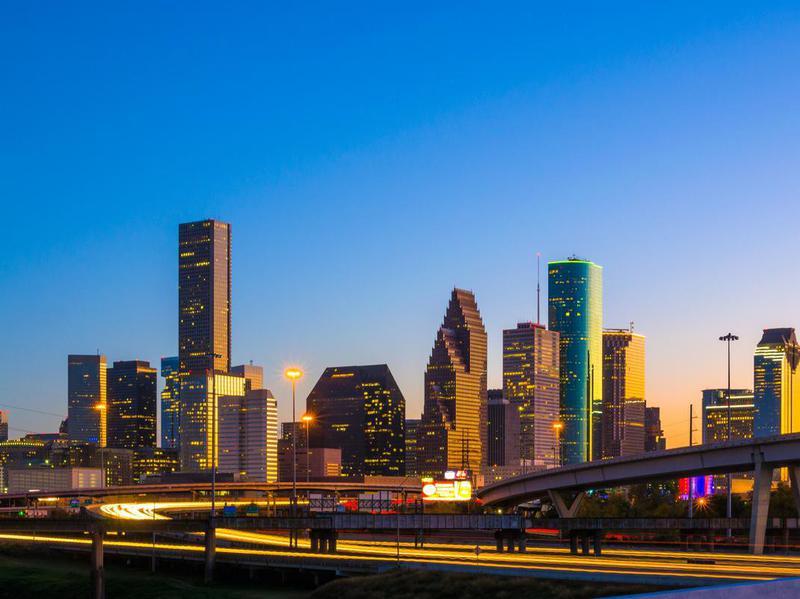 Downtown Houston Skyline at Sunset