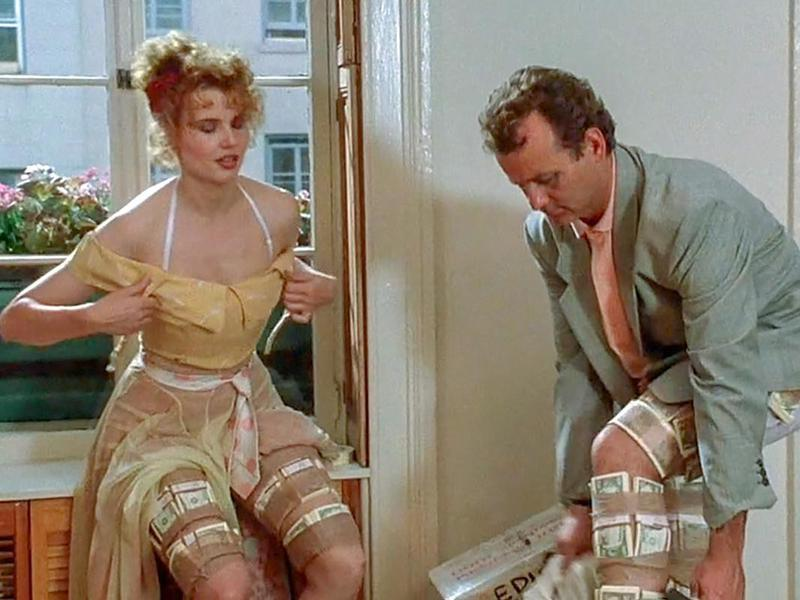 Geena Davis and Bill Murray in Quick Change (1990)