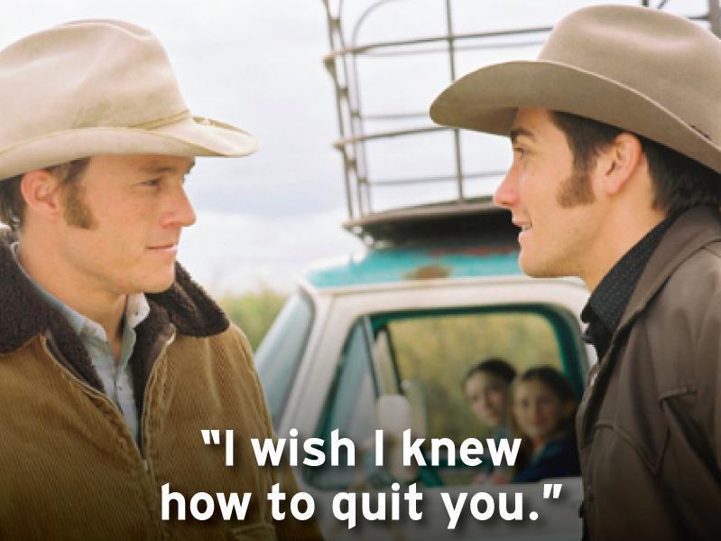 Heath Ledger and Jake Gyllenhaal in Brokeback Mountain (2005)