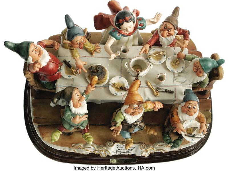 Snow White and the Seven Dwarfs Porcelain Sculpture