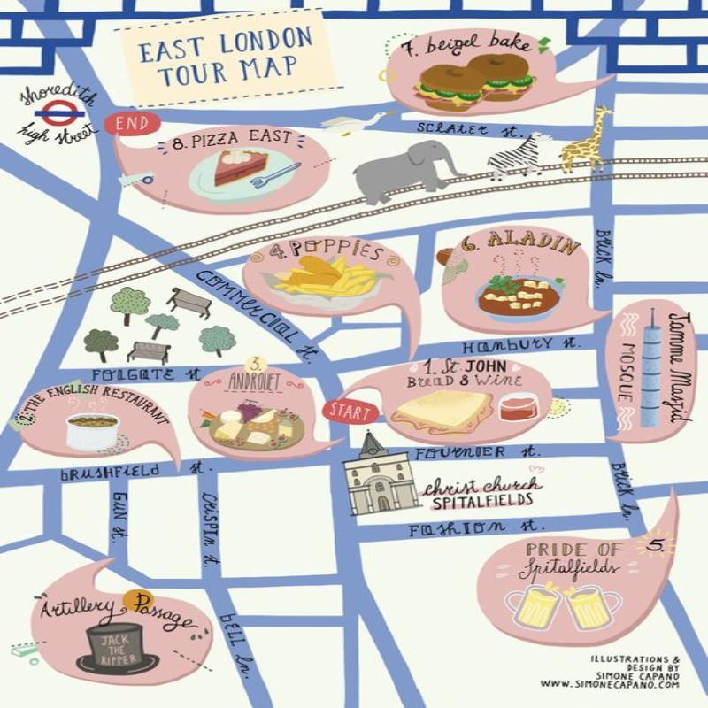 East London food map