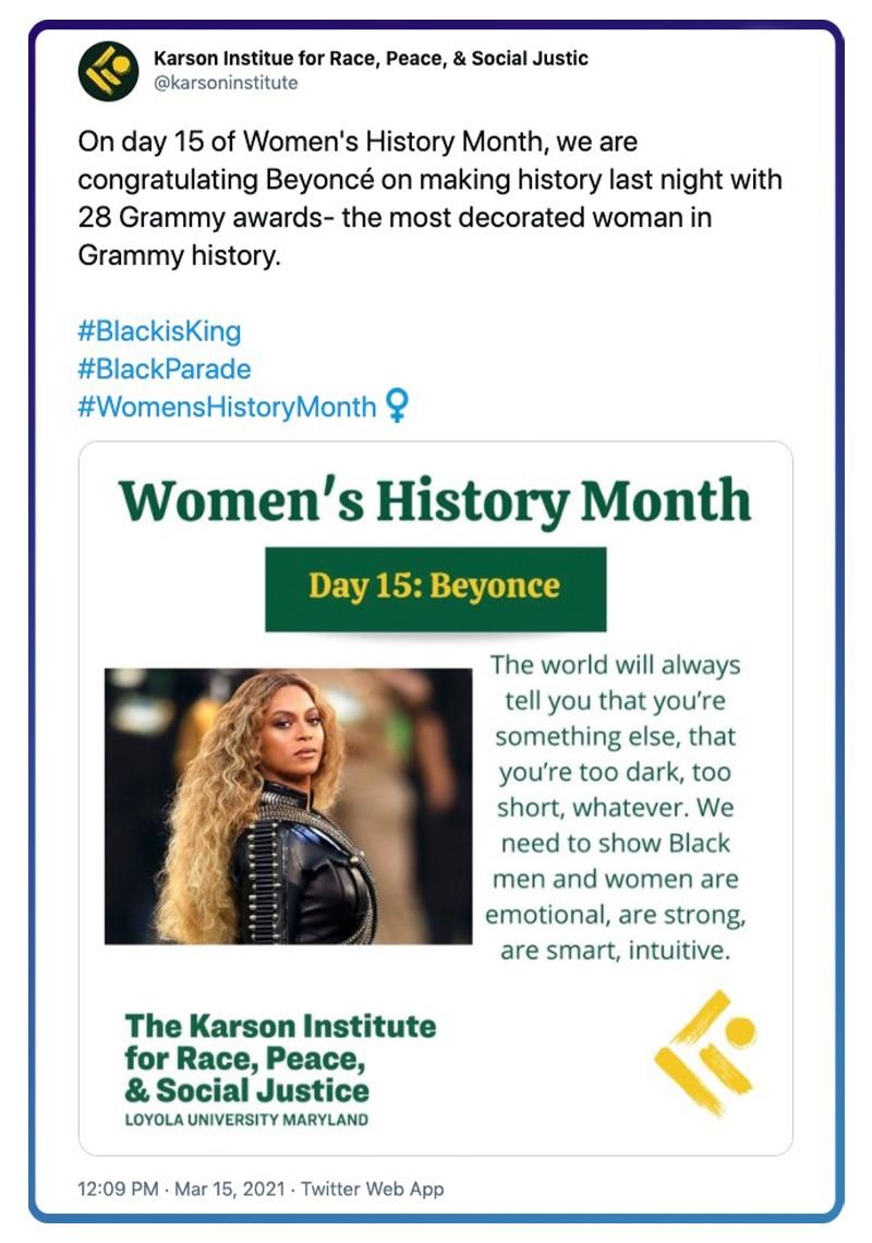 Queen Bey congratulations