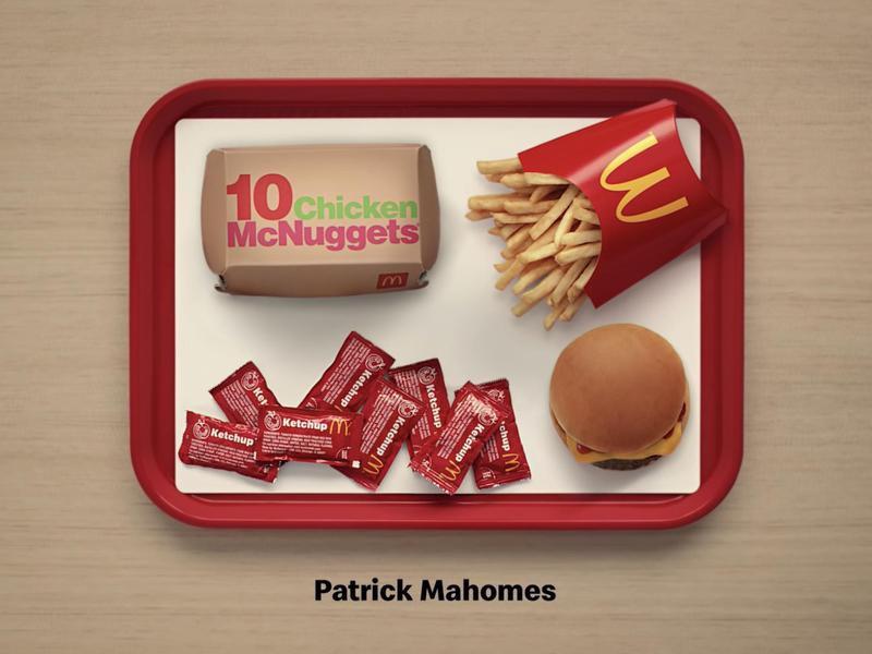 Patrick Mahomes' order