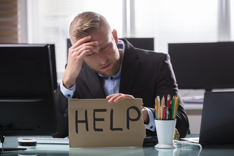 Businessman needs help
