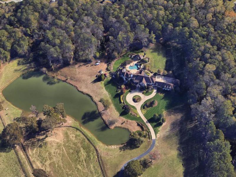 Aerial view of The Rock's Georgia estate