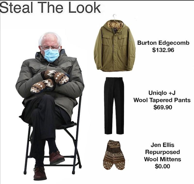 Bernie Sanders' attire