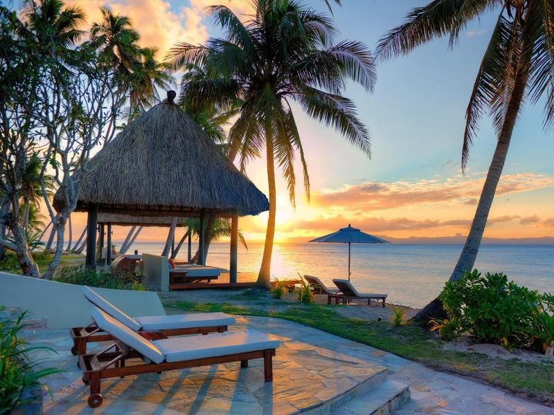 Luxury eco resort in Fiji