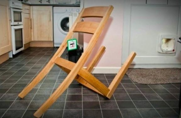 Legs on wrong side of chair