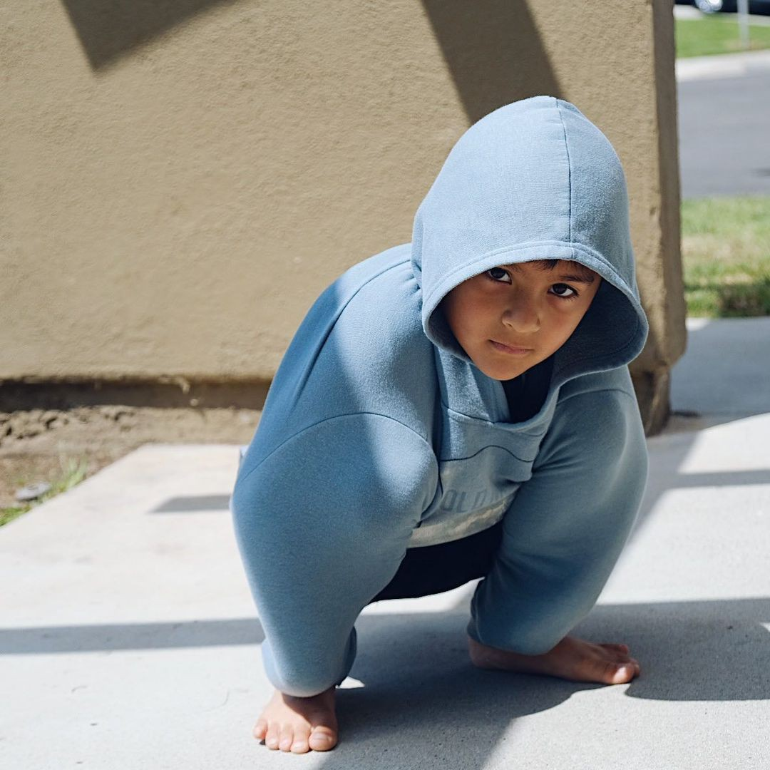 Kid in sweatshirt