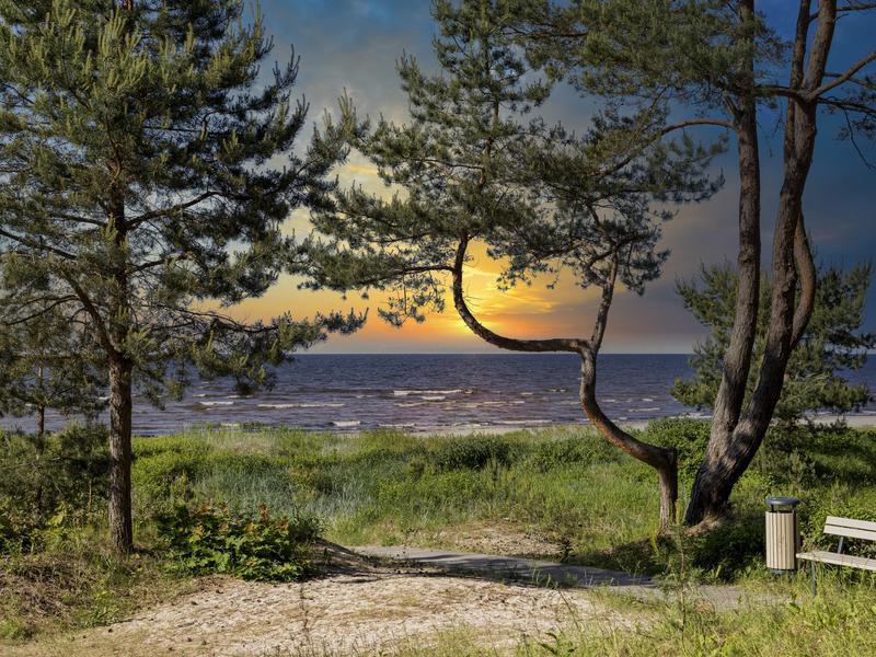 Sunset in Jurmala Latvia