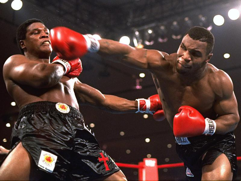 Mike Tyson and Trevor Berbick