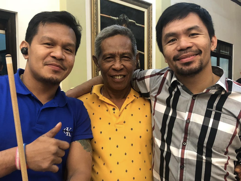 Rosalio Pacquiao and Manny Pacquiao