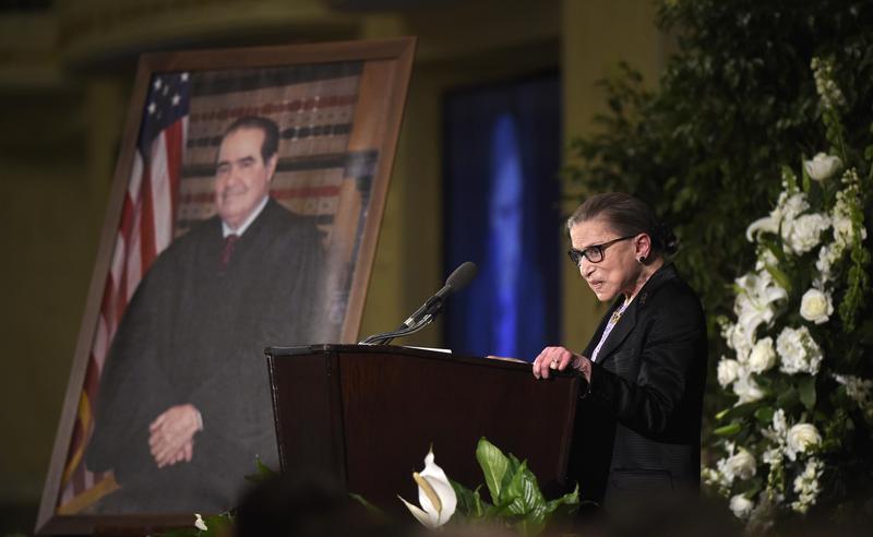 RBG at Antonin Scalia's memorial service