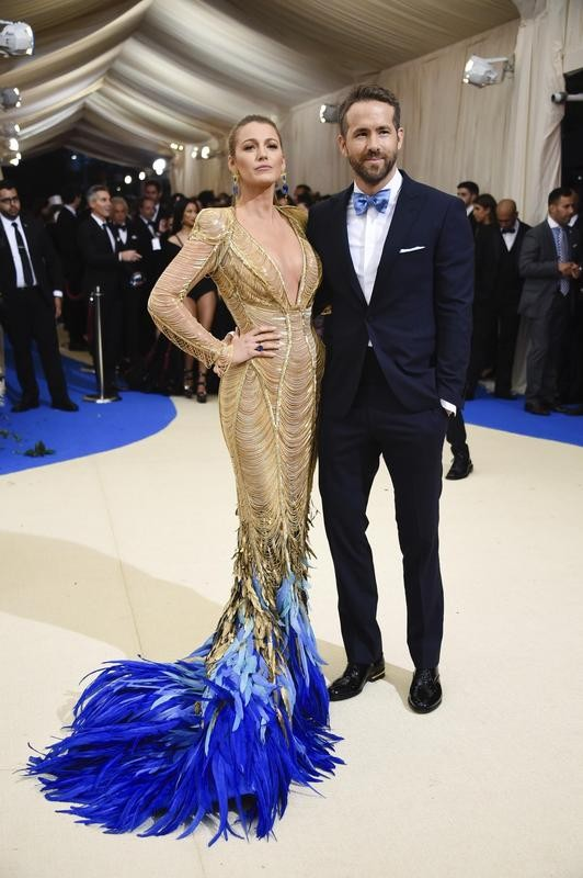 Blake Lively with Ryan Reynolds at the Met Gala