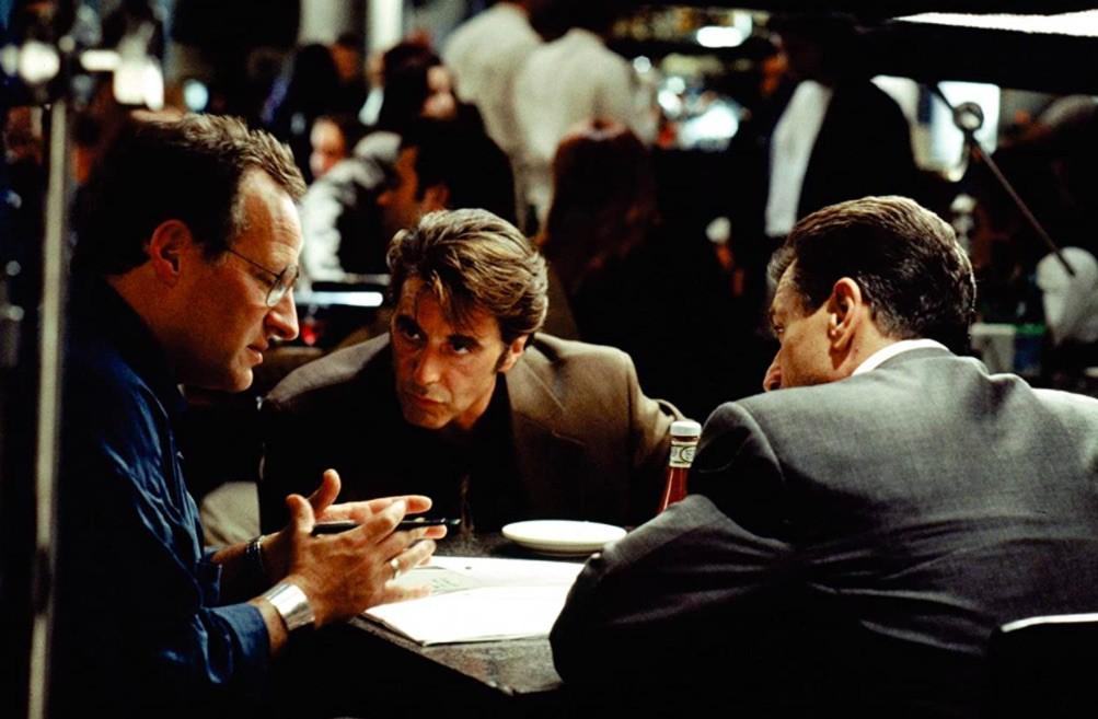Robert De Niro, Al Pacino, and Michael Mann in Heat