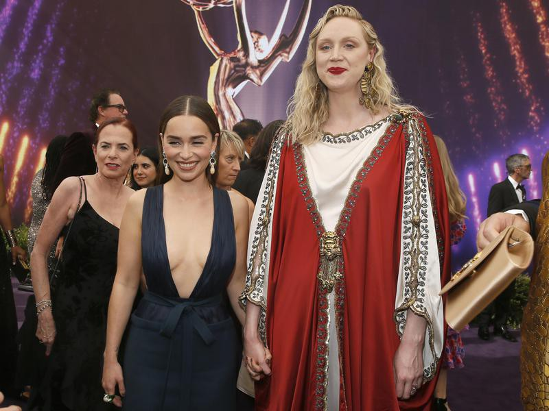 Emilia Clarke and Gwendoline Christie